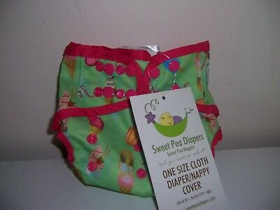 Tilly's Treats  Sweet Pea cloth diaper cover one size