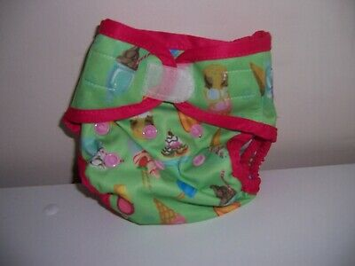 Tilly's Treats  Sweet Pea cloth diaper cover New Borne