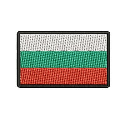 FLAG PATCH PATCHES BULGARIA BULGARIAN IRON ON COUNTRY EMBROIDERED SMALL