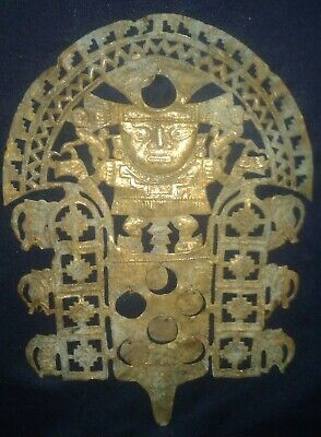 Moche,diadem crown tumbaga gold (mix of gold and copper),Precolumbian,Mochica