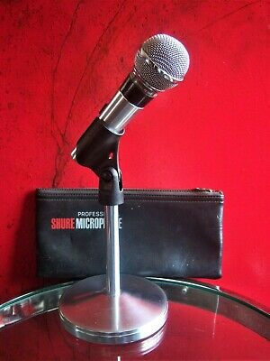 Vintage 600ms Shure Brothers PE-56D Dinamico Cardioide Microfono W Clip & Tasca