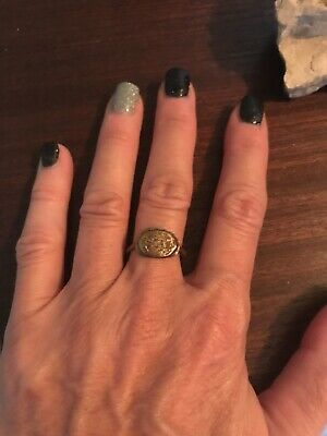 Ancient Bronze Roman Or Byzantine Artifact Ring Size 7