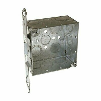 "Hubbell Raco 8235 4"" Square Box With Bracket"
