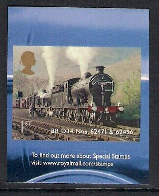 GB 2012 sg3407 Classic Locomotives Of Scotland self adhesive booklet stamp MNH