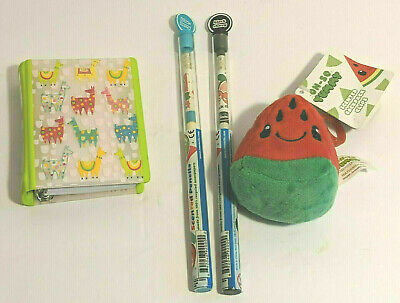 Watermelon Oh So Yummy Scented Backpack Clip, Mini Binder Notebook & 2 Smencils