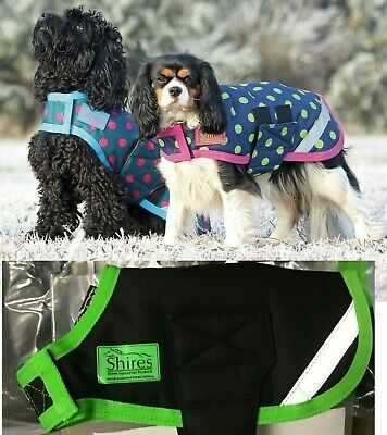 SHIRES Waterproof, Padded Dog Coat, various colours/sizes, 200g
