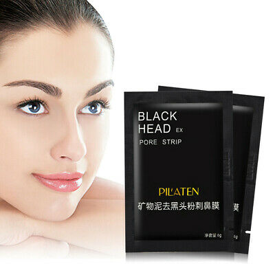 10 Pilaten Blackhead Remover,Deep Cleansing Black Mud Mask Acne Pore Strip Peel