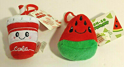 Oh So Yummy Scented Backpack Clips Lot of 2 Watermelon & Cola
