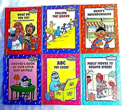 Vintage Sesame Street Book Club, Collection of 6 Books