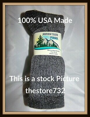 3 Pair 72% Merino Wool Thermal Boot Socks 10-13,  By  Mountain Pass