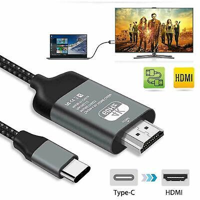 USB C to HDMI Cable USB Type C to HDMI 4K Cord For Samsung S10 S9 Macbook HighQ