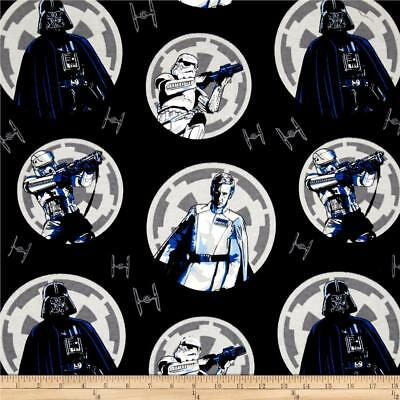 SALE Rogue One A Star Wars Darth Vader Flannel fabric 43/44 100% cotton Sold BTY