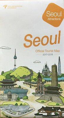 SEOUL Tourist Map - Subway Map - Free UK Postage