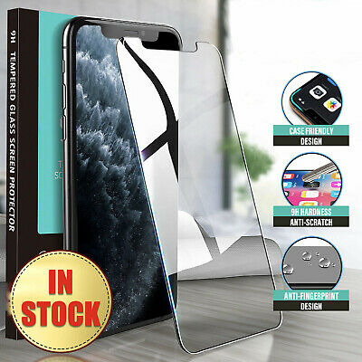 iPhone 11 Pro XS Max X XR 8 7 6 S Plus Tempered Glass Screen Protector for Apple