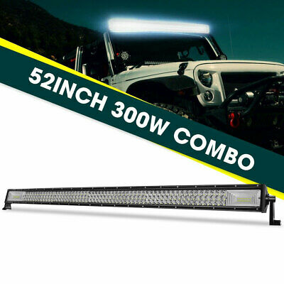 52Inch LED Work Light Bar Triple Row Spot Flood Offroad 4x4 Fog Lamp Driving 50""