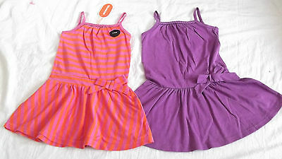 BNWT STUNNING BABY GIRLS 2 PACK OF BLUEZOO STRAPPY JERSEY SUMMER DRESSES, 12-18m