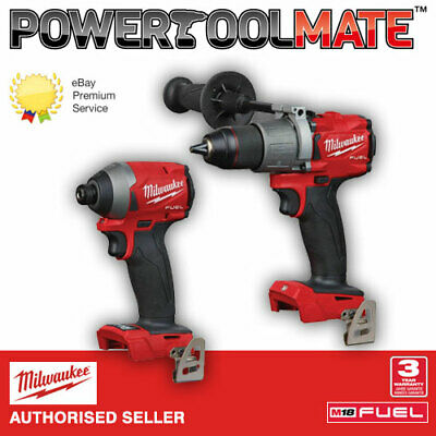 Milwaukee 3rd Gen Fuel M18FPD2-0 Percussion drill and M18FID2-0 Impact Driver