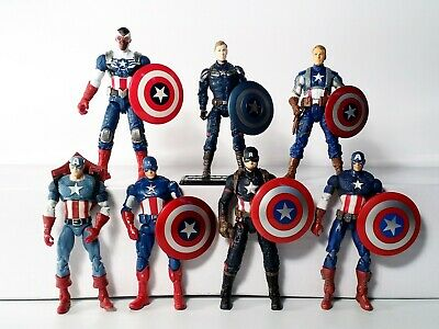 "Marvel Universe 3.75"" Lot of 7 Captain America Variants Action Figure Hasbro"