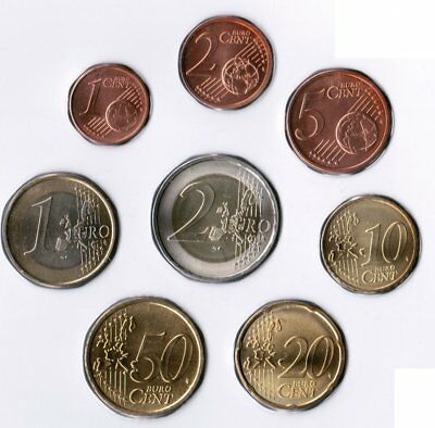 Belgium 1 Cent to 2 Mint State in 8er Case