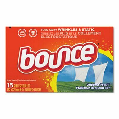 Bounce Fabric Softener Dryer Sheets Outdoor Fresh 15-Count