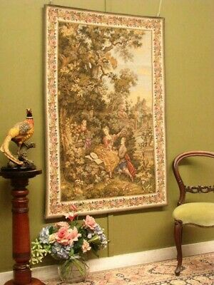 Large Period Style Tapestry Wall Hanging ~ Suit Antiques, French, Country.