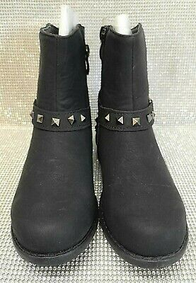 Girls Suede Shoes Kids Size Uk 11 Mid Calf Zip Warm Winter Boots New Uk