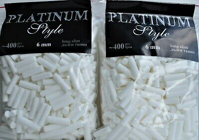 Cigarette Rolling Filter Tips 22MM Long Slim Filters Loose Smoking 800 Pieces
