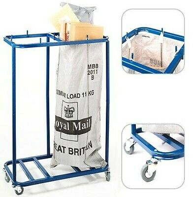 Royal Mail Twin Double Post Bag Sack Holder Letter Sorting Room Postage Trolley