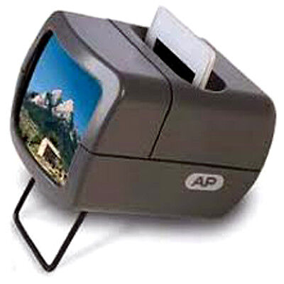 AP Slide Viewer with 2X Magnification for 35mm Mounted Slides - Illuminated