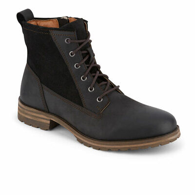 Lucky Brand Mens Gaston Genuine Leather Rugged Lace-up Rubber Sole Boot