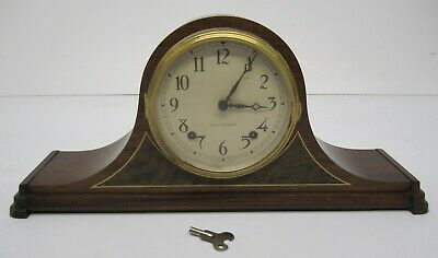 Vtg 1940s Seth Thomas #4505 Movement 427 Wooden Mantle Clock Cathedral As Is