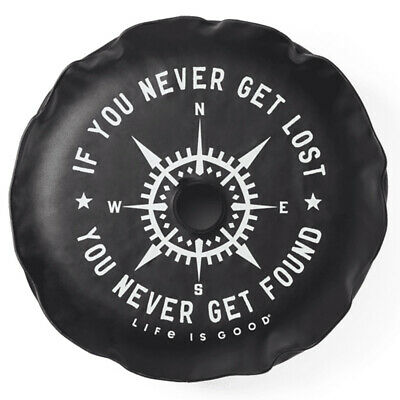 """Life Is Good. Tire Cover Lost And Found Compass, Night Black-32"""""""
