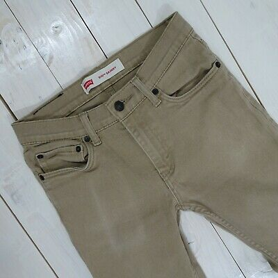 Mens Boys Levi's 510  Jeans Skinny Fit Jeans Tan / Brown Size 14Reg / 27x27