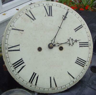 antique norfolk  tavern wall clock 8 day  long case movement and convex dial