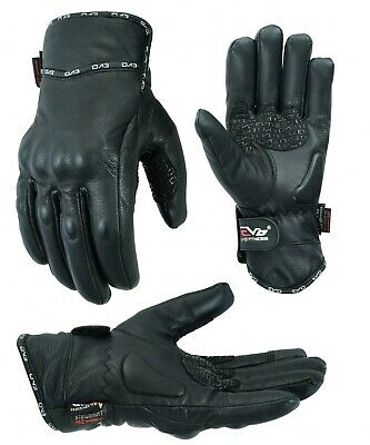 EVO Leather All Weather Waterproof Thermal Motorbike Motorcycle Knuckle Gloves