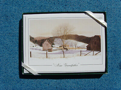 "NEW Bob Timberlake Christmas Cards "" Near Grandfather "" Box of 10 with envelops"