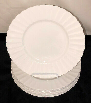 "8 English Bone China * SUSIE COOPER*FLUTE WHITE* 8 1/2"" LUNCHEON PLATES*"