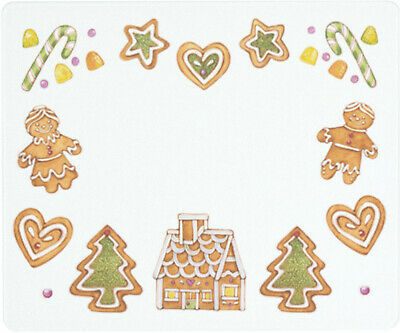 Vance 12 X 10 inch Gingerbread Cookies Saver Tempered Glass Cutting Board