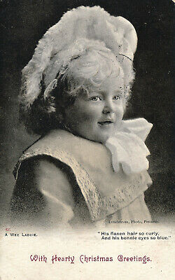 R104181 With Hearty Christmas Greetings. A Wee Laddie. Lundstrom. 1903