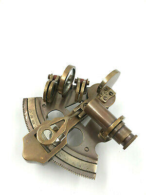 "Nautical Brass 4"" Antique Sextant ~ Nautical Marine Ship Instrument ~ By Ziecor"