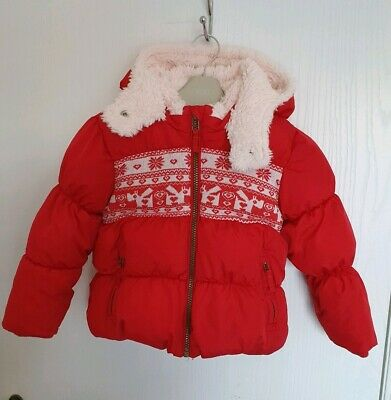 Next Red Girls Jacket Coat Size 2-3 Years