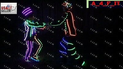 Universal Halloween costume Party LED SUIT STICK FIGURE