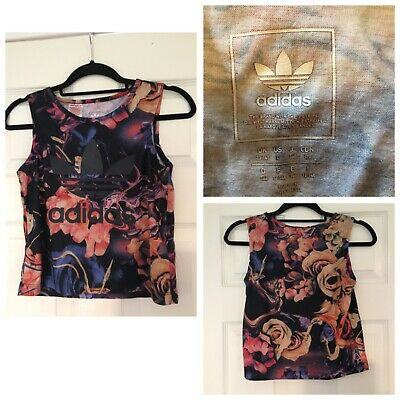 Girls Adidas Floral  Vest Top Size 13-14 Years Sleeveless (A250)