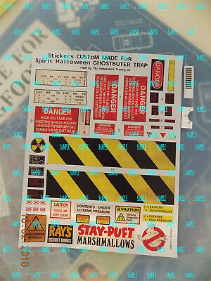Ghostbusters (Spirit Halloween Ghost Trap) Weathered Chrome up grade Stickers