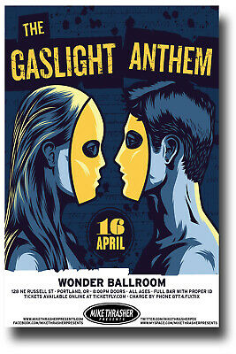 Gaslight Anthem Poster Concert 11x17 - 2013 Tour Ships the SameDay From The USA