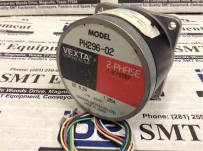 Used Vexta PH296-02 Stepping Motor 2 Phase 1.25A 5.5VDC 1.8/STEP Tested ev