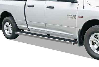 Wheel to Wheel Running Boards 5 inches Fit 09-18 Ram 1500 Quad Cab 6.5ft Bed