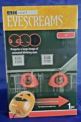 Gemmy EyeScreams-Blinking Red Eyes-LED Light Show Projection-Halloween
