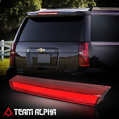 Fits 2015-2020 Suburban/Tahoe Chrome/Red<LED BAR>Rear Third 3rd Brake Light Lamp