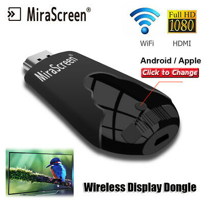 Support 1080P HD MiraScreen K4 Wireless WiFi Display Dongle TV Stick HDMI